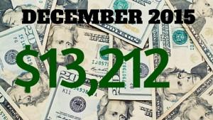 December 2015 Income - 13,212