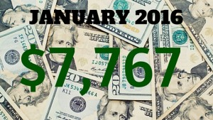January 2016 Income Report